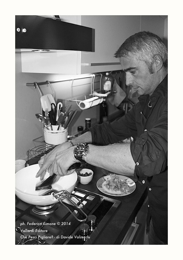 Federico Simone, Davide Valsecchi, Vallardi, Food, Piatti, Cucina, Pesce, Che Pesci Pigliare?, Libro, Editoria, Ritratto