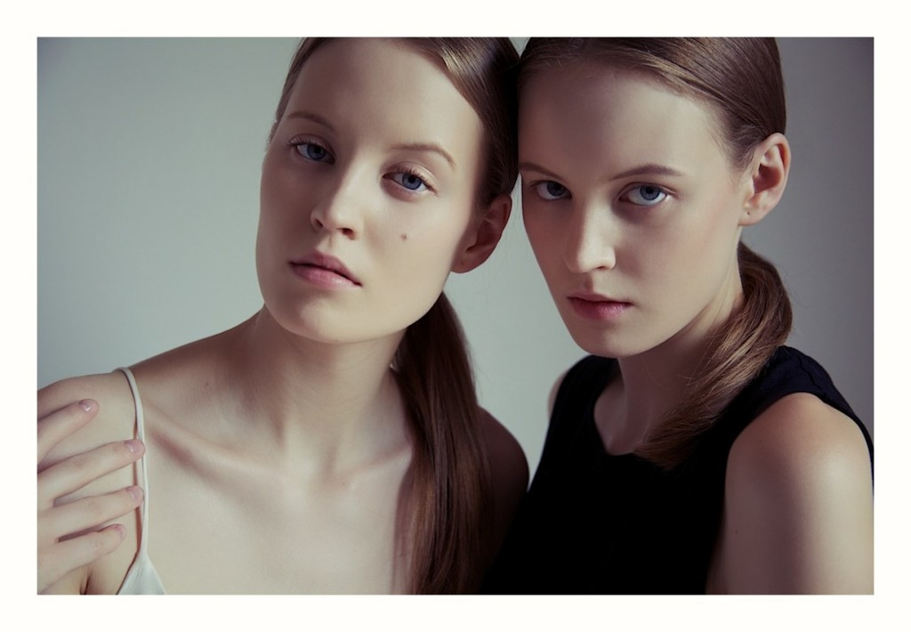 Twins, test shooting, fashion by Federico Simone